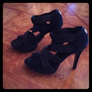 BCBG Black heels with a small platform